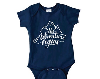 Take Home Outfit, The Adventure Begins Mountain Bodysuit, Baby Boy Clothes, Hipster Baby Clothes, Baby Shower Gifts, Coming Home Baby Outfit