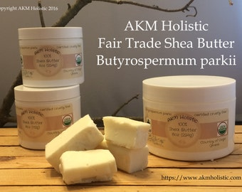 "4oz Jar Virgin Shea Butter ""Butyrospermum Parkii"" Organic, Fair Trade"