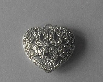 Large Heart shape pendant c1950s