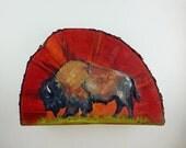 Buffalo Oil Painting on B...