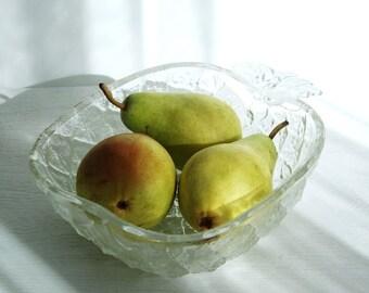 Bowl transparent glass pineapple vintage