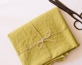 Hemp & Organic Cotton Grass Green Fabric - Prewashed