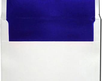 A7 White with Blue Foil Lined Envelopes - 10 Pack