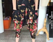 Kimono Sakura Flower Limited Edition Samurai Ninja Pants