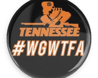 WGWTFA University of Tennessee gameday button, Black VOLS Pin #WGWTFA