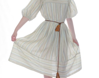 FREE US SHIPPING Vintage Summer Cotton Dress