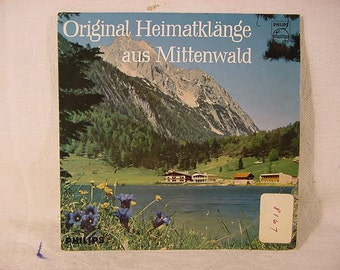 Vintage Old Collectible Philips 45 rpm Record * In German * Heimatlanor