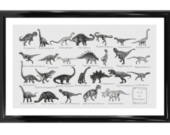 A - Z Of Dinosaurs Counted Cross Stitch Kit