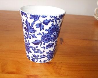 "Burleigh (Burgess & Leigh) ""Arden"" blue and white beaker"
