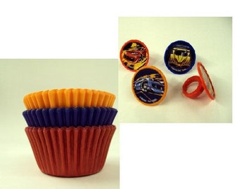 Hot Wheels Rings with Assorted Color Baking Cups