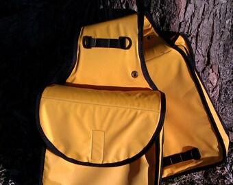 Dark yellow saddle bag