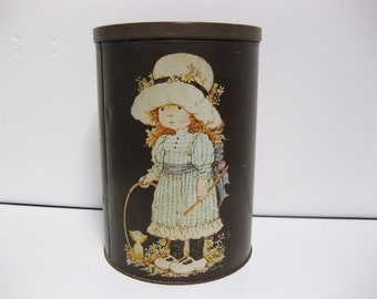 Sarah Kay / Holly Hobbie Large Vintage Tin