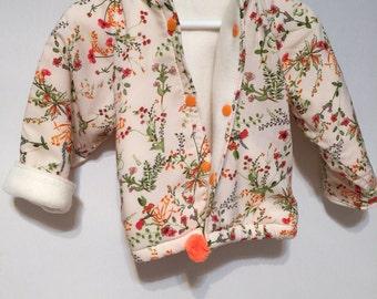 Coat, Jacket, Cuddly ,Warm,Fleece Cotton,Light,Washable,Toddler,Child, Baby