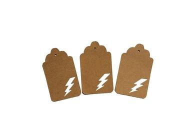 Lighting Bolt Gift Tags