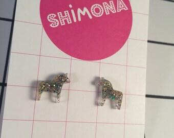 Mini Dala Horse Earrings