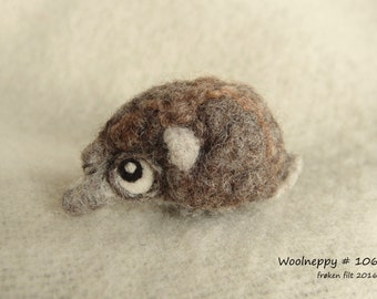 Woolneppy baby from the forest - made from natural coloured wool