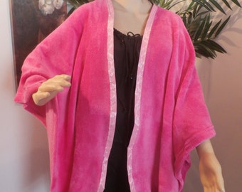 Pink Plush Wrap/robe---PPK121015