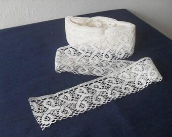 100% natural white linen lace/pure linen lace/natural linen lace/linen trim