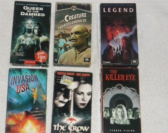 VHS-psyclotronic 2-invasion USA-lot of 6-1990s-GD