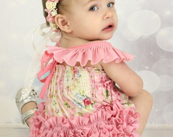 Frilly Milly shirred romper