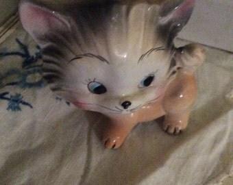 Vintage porcelain cat. Japan?