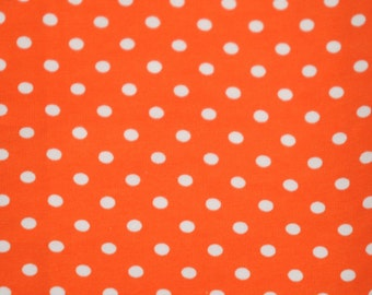 Knit Really Orange Small Dots Fabric 1/2 yard