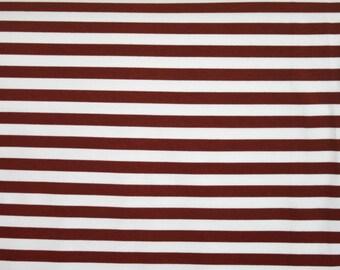 "Knit Brown 1/2"" Stripes Fabric 1/2 yard"
