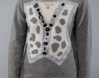 Vintage sweaters with decorative stones