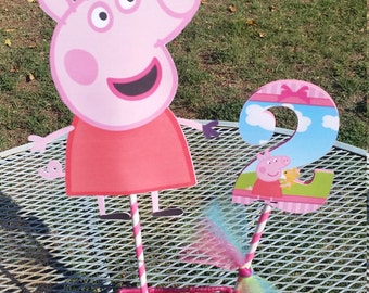 Peppa pig centerpiece, peppa pig party