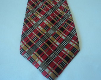 REDUCED - French vintage silk neck tie (03128)