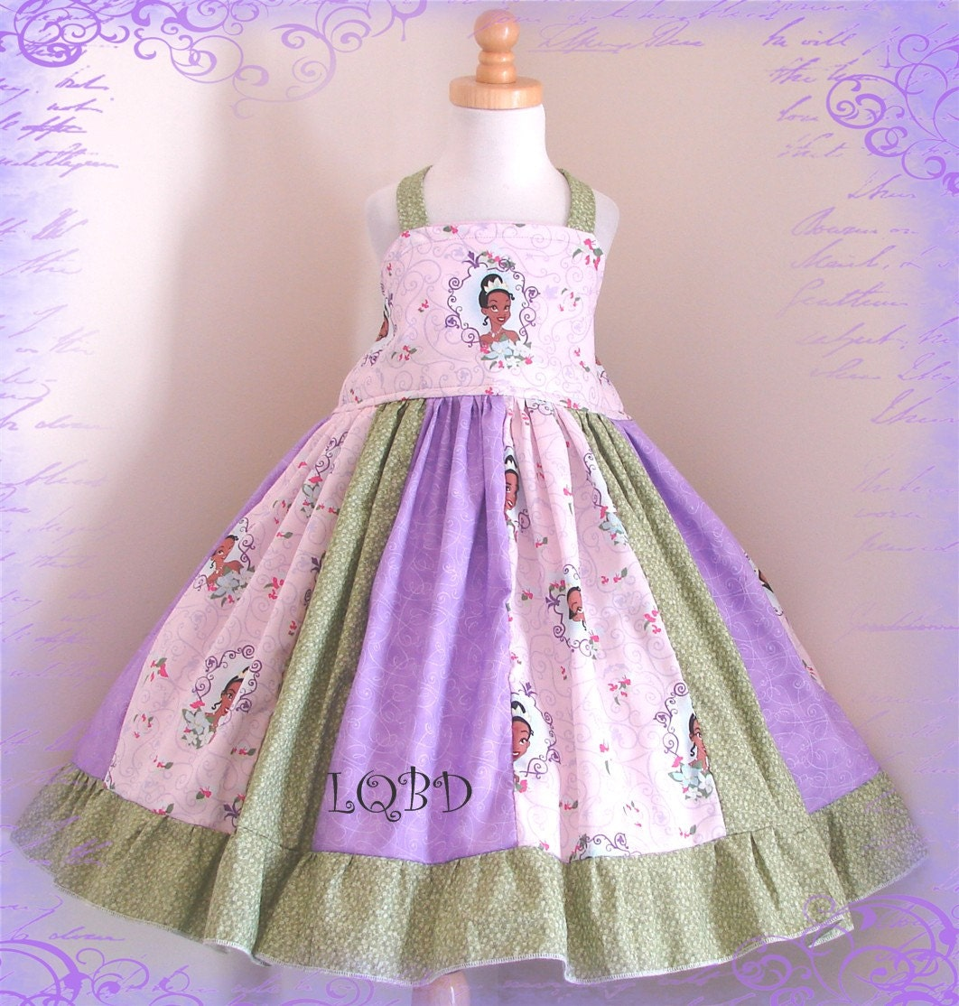 Princess Tiana Dress: Girls Tiana Princess Frog Dress Ready To Ship Fits