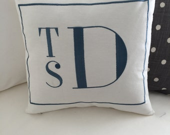 Personalized Monogramed Pillow Cover