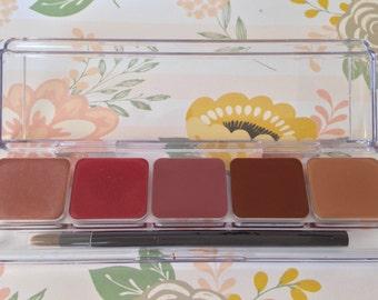Vegan Lip Palette - Blushing Collection, Neutral Lip Balm