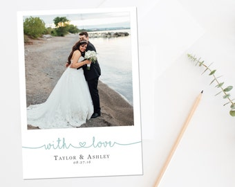 Wedding Thank You Card, Wedding Photo Thank You, Wedding Thank You