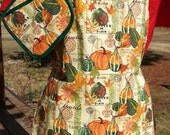 Fall Print Full Lined Apron
