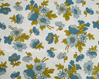 SALE! Small Wildflower Florals Bone Sky Natural from Nomad by Urban Chiks for Moda Fabrics - 100% Cotton Fabric