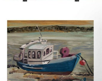 Hahnemühle Photo Rag paper -Print of marine boat on water - loves boats - various sizes - room art