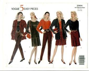 Vogue Pattern 2964  5 Easy Pieces  Size 14-16-18 UNCUT