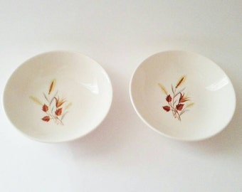 Vintage Fall Bowls, Vintage Taylor Smith & Taylor Bowls, Autumn Harvest Bowls, Ever Yours Bowls, Leaves and Wheat Pattern Bowls