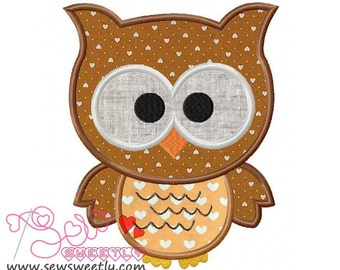 Forest Friends Owl Applique Design.