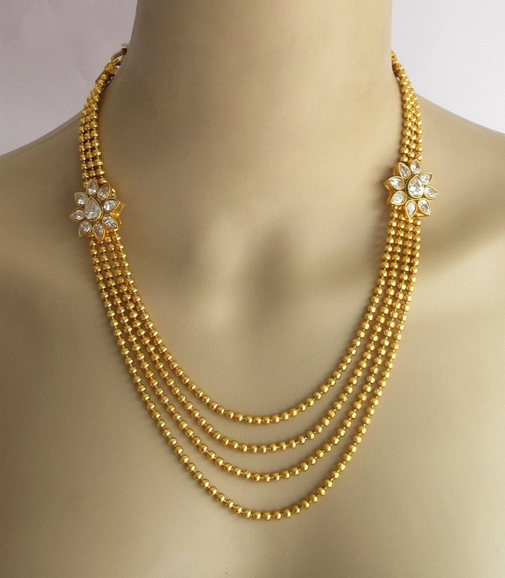 gold necklace set gold multi layered by beauteshoppe