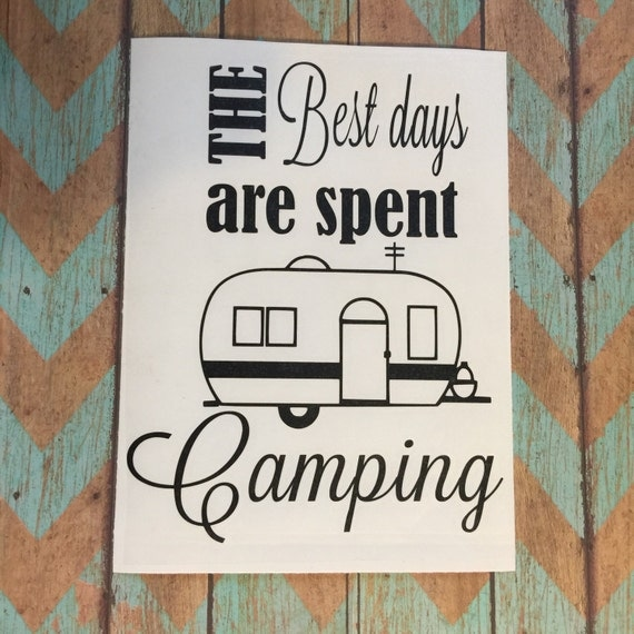 Camping Decal Happy Camper Camping Decor Camping Signs