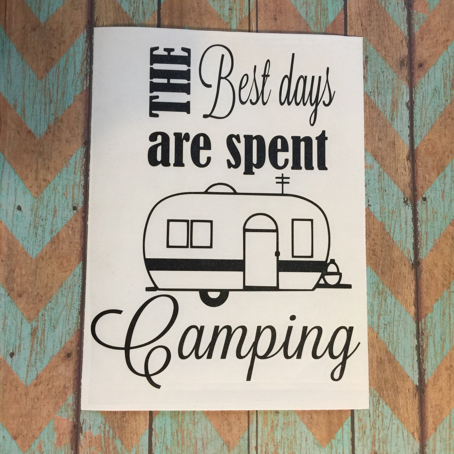 Camping Quotes Funny: Camping Decal Happy Camper Camping Decor Camping Signs