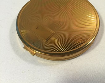 Richard Hudnut refillable powder conpact - mirror compact - monogramable vintage compact - Richard Hudnut