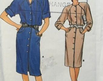 1985 Vintage Vogue 8974 Uncut, Factory Folded Sewing Pattern Size 12 14 16