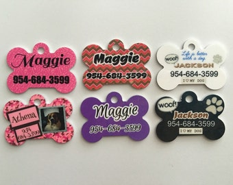 Dog Tag, Personalized Pet Dog ID Tag, Custom Made FREE Shipping Gift Dog Tag Cat Tag Pet Tag