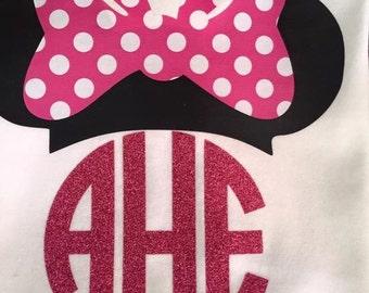 Monogrammed Minnie shirt