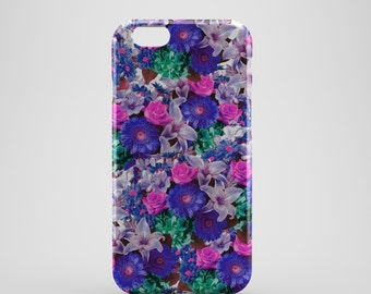 Purple Floral Phone case,  iPhone X Case, iPhone 8 case,  iPhone 6s,  iPhone 7 Plus, IPhone SE, Galaxy S8 case, Phone cover, SS143c