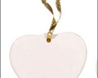 Porcelain Heart Pendant