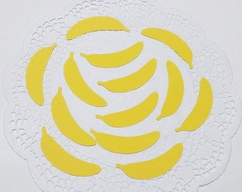 """Banana Die Cuts Embellishments Confetti: Yellow (Primary Cardstock)  1.09"""" W x 2.76"""" H"""